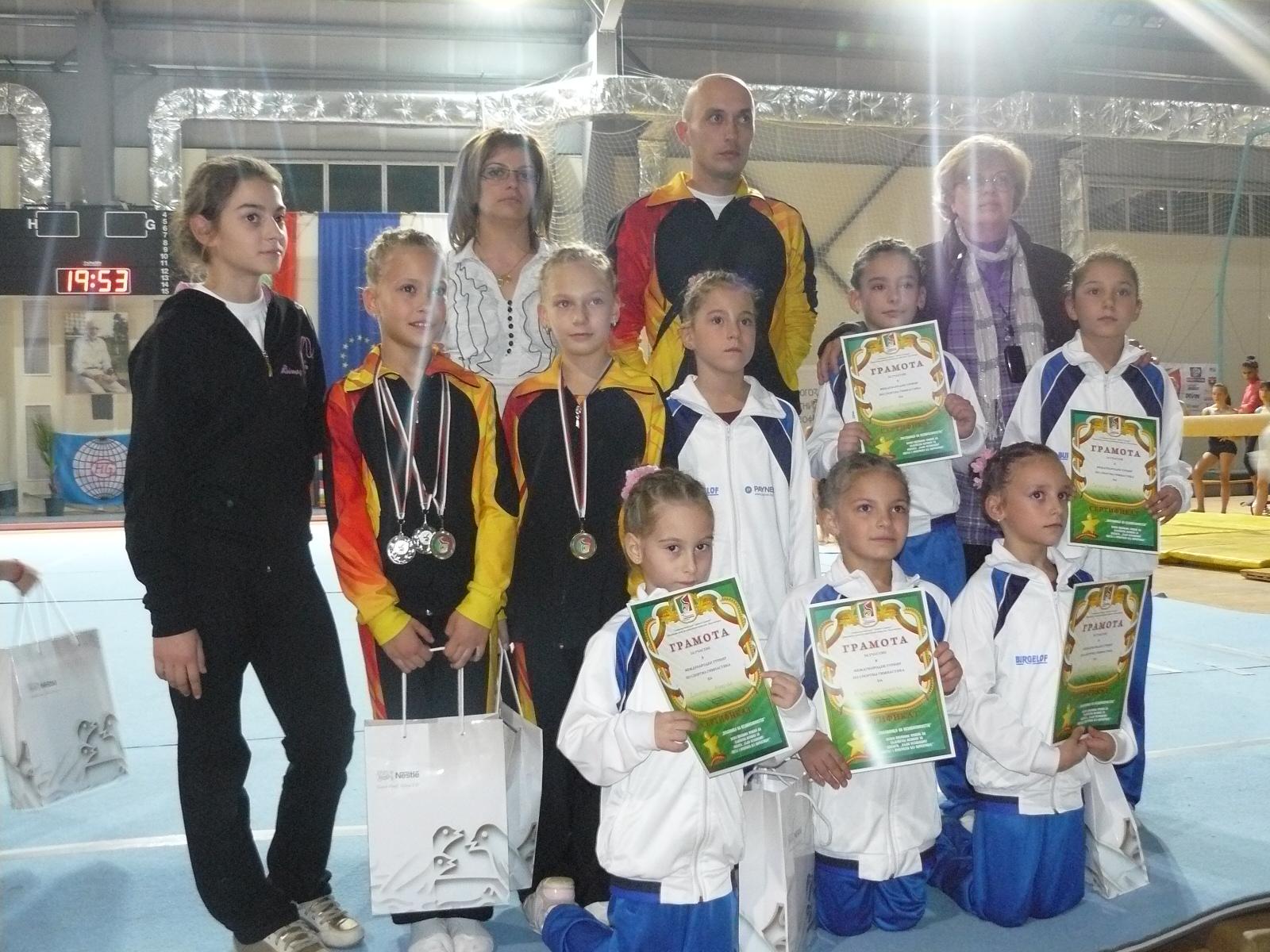 Гимнастичките с 6 медала от международен турнир