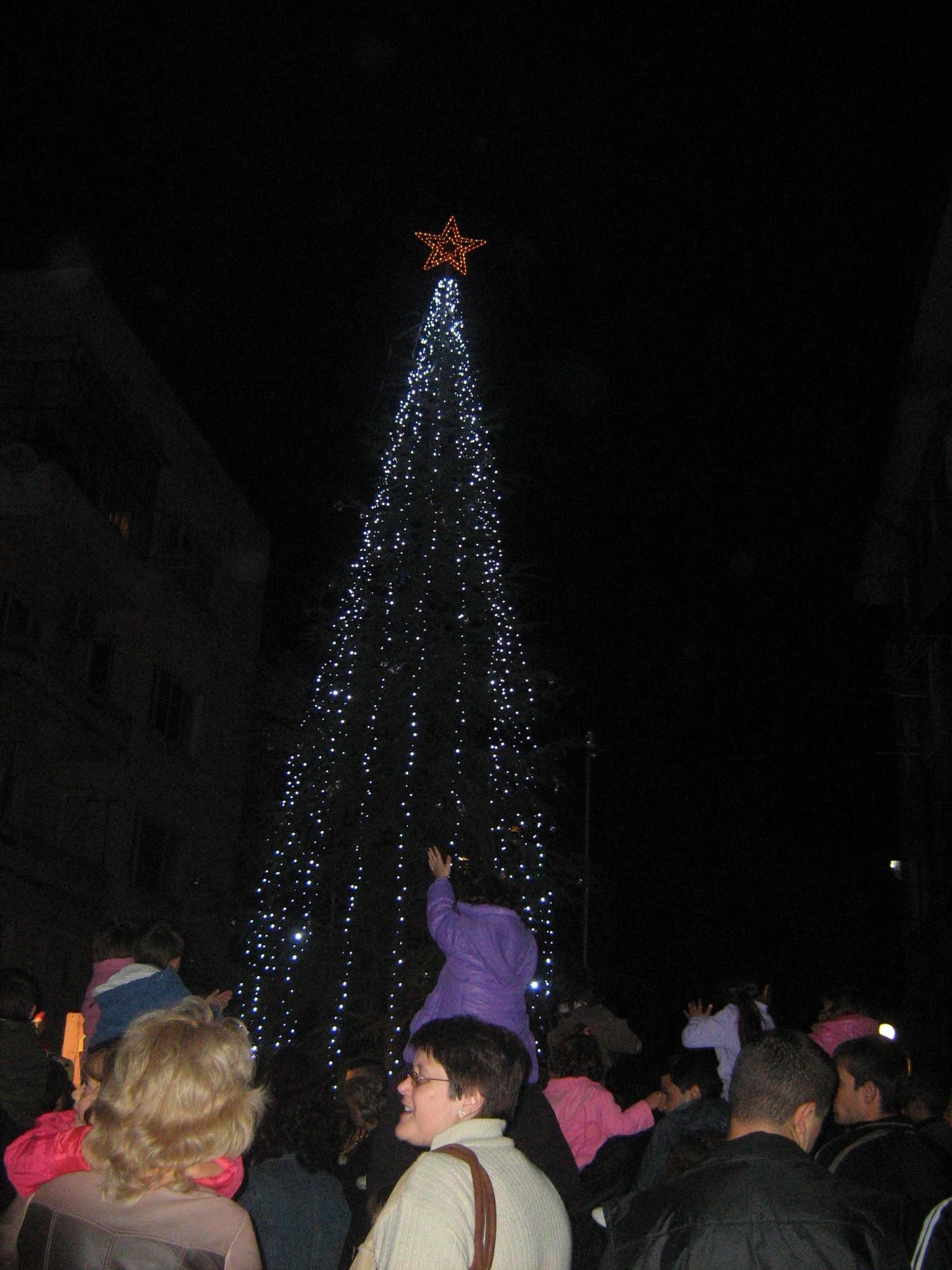 Дядо Коледа запали светлините на елхата