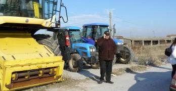 Местни зърнопроизводители дойдоха край границата