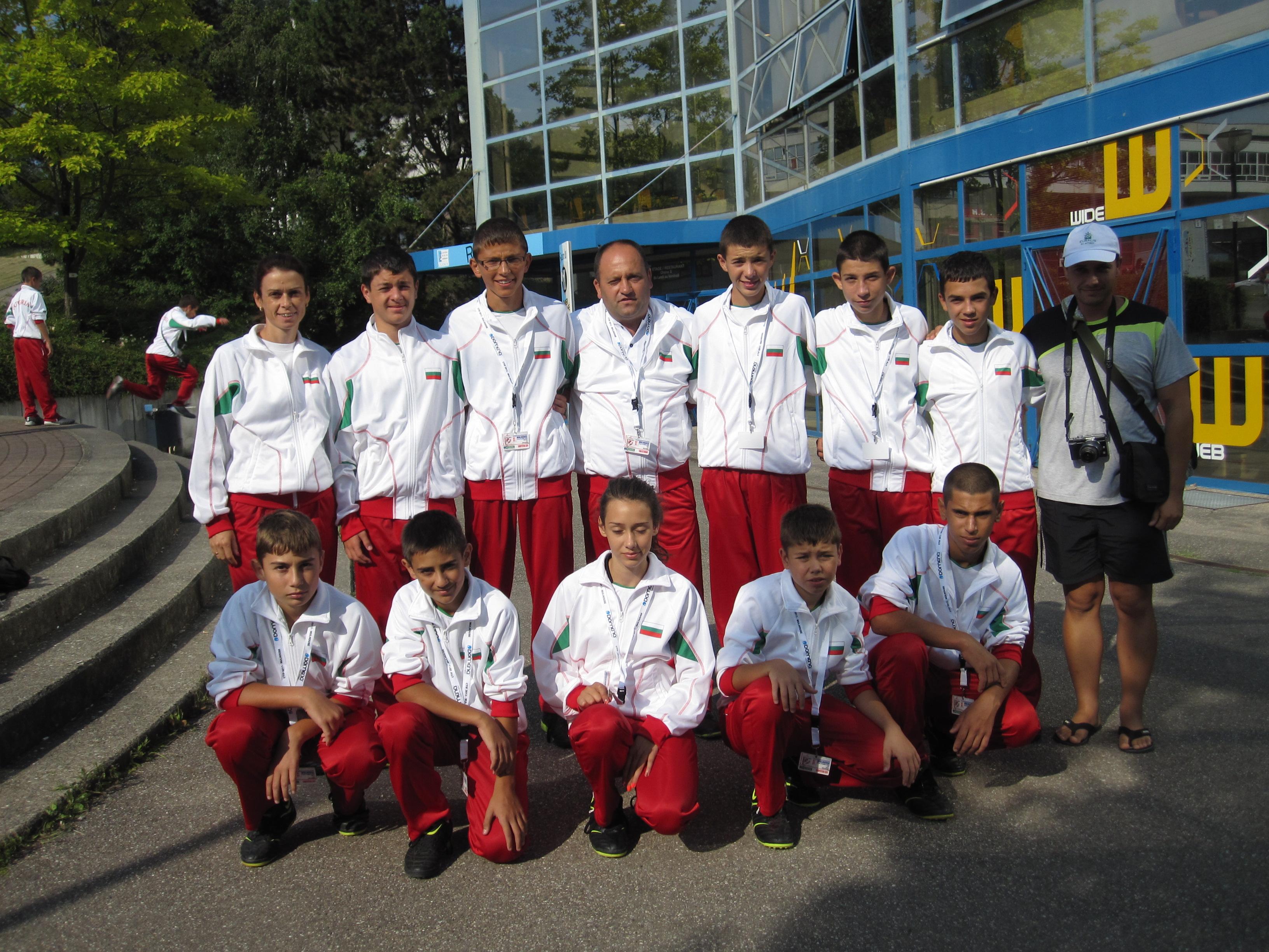 """""""Млад огнеборец"""" с десето място от състезанието във Франция"""