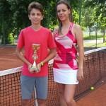 Денислав и треньорката му Елена Цингова