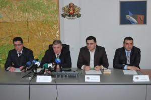 Пресконференцията в Пловдив        Сн.: Пресцентър МВР