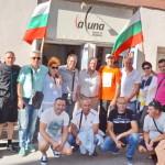Геро / в средата с оранжева тениска/ заобиколен от свиленградчани в Авиньон