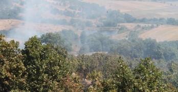 Голям пожар бушува до Лисово, стигна първите къщи
