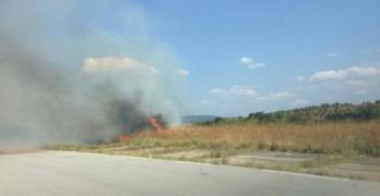 Нов голям пожар пламна край летището преди Младиново