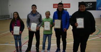 Петима млади спортисти получиха награди за успехите си през 2016 година