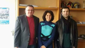 на сн. от ляво на дясно: Красимир Стоев, Радостина Карамфилова, Георги Цеков