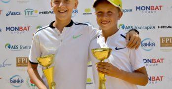 Гого Георгиев и Павел Маринов са първи на двойки на Държавното до 12 години