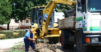 Авария на главен водопровод пред казино в Свиленград