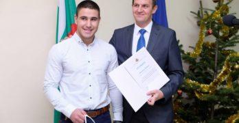 Областният управител отличи свиленградчаните Димитър Петров и Виктория Танева