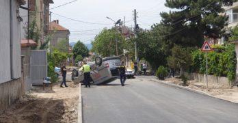 Първа катастрофа на новия асфалт в Свиленград