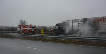 "Камион се запали на АМ ""Марица"" между Любимец и Харманли"