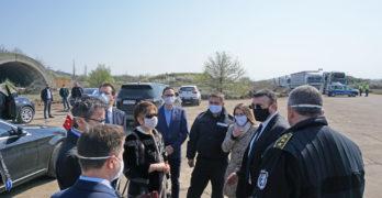 "Турският посланик в България посети временния паркинг на летище ""Узунджово"""