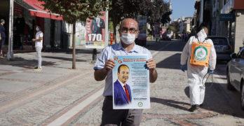 Одрин е залят с плакати на български заради коронавируса