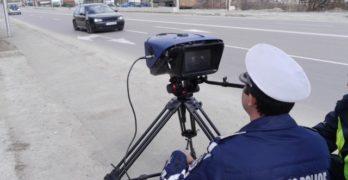 Снимането по пътищата на Хасковско продължава активно. 187 щрактнати с превишена скорост от пътните полицаи