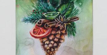 Рисунка на Йоан Димитров грейва на поздравителната коледна картичка на община Свиленград