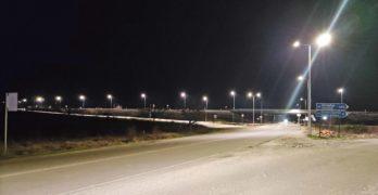 """Осветлението на пътен възел """"Свиленград"""" от автомагистрала """"Марица"""" е работило пробно"""