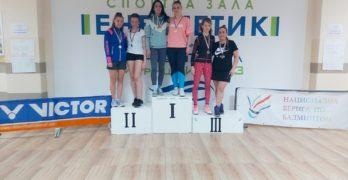 Шест медала от Националната верига за бадминтона в Свиленград