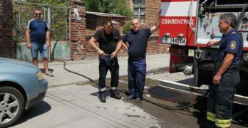 Светкавична реакция на свиленградските пожарникари изгаси пожар в центъра на града