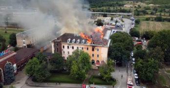 """Скара е подпалила сградата на """"Неохим""""  в Димитровград"""
