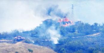 Непълнолетен е причинил пожара, лумнал вчера във вилна зона в Харманли